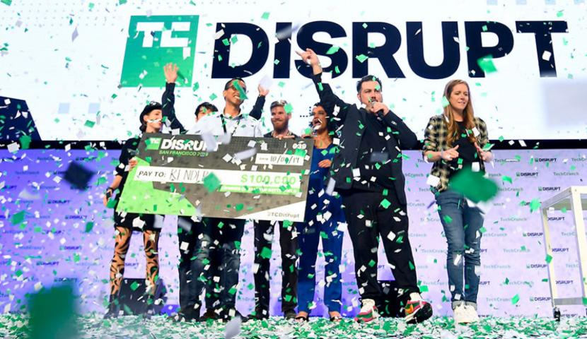Disrupt winners on stage