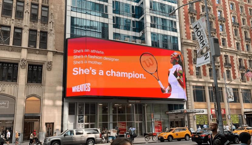 billboard congratulating serna william championship