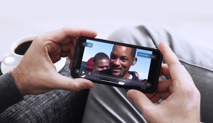Watching video on mobile phone